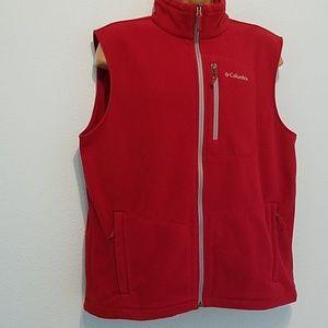 Columbia Sportswear Size L Fleece Vest Red